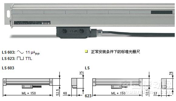 海德汉 封闭式光栅尺 LS系列