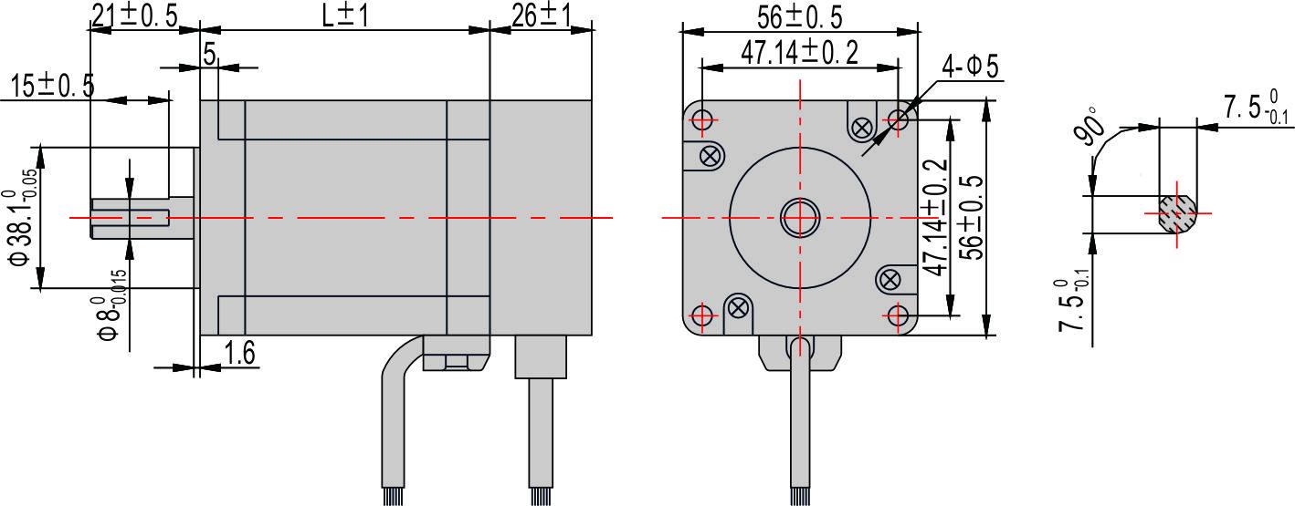 闭环混合式步进电机56系列(二相)