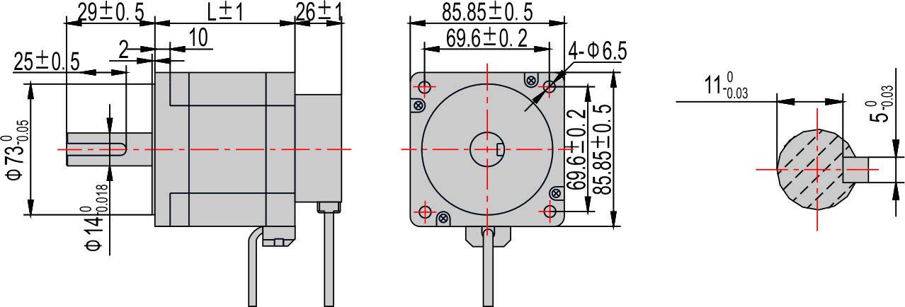 闭环混合式步进电机85系列(二相)