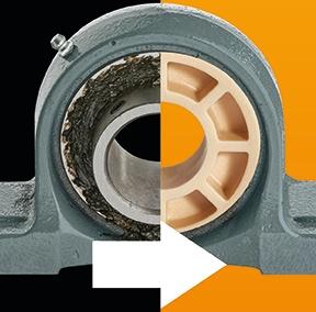 采用igus塑料球体的轴承座改装方案