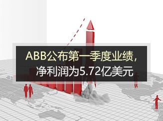 ABB公布第一季度业绩,净利润为5.72亿美元