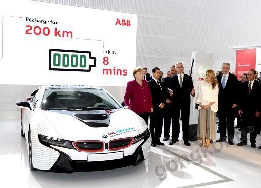 ABB在汉诺威推出最新型电动交通解决方案 —— Terra HP快速充电桩