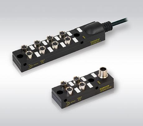 图尔克推出采用M8接插件的无源分线盒