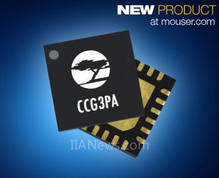 贸泽推出的CypressCCG3PA控制器,通过QuickCharge4认证