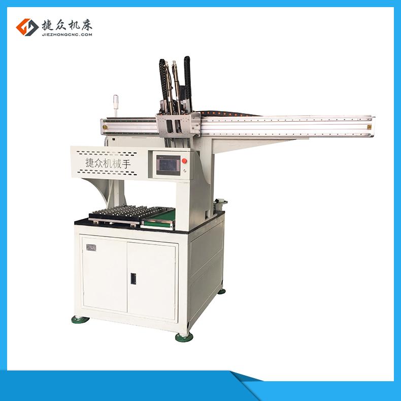 台湾数控无心磨床送料机自动上下料机械手捷众机床自动化设备公司