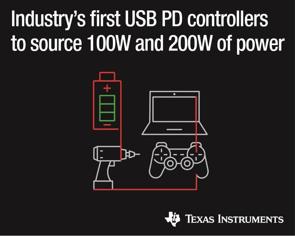 德州仪器推出2款电力输送控制器,具有完全集成电源路径和低成本设计