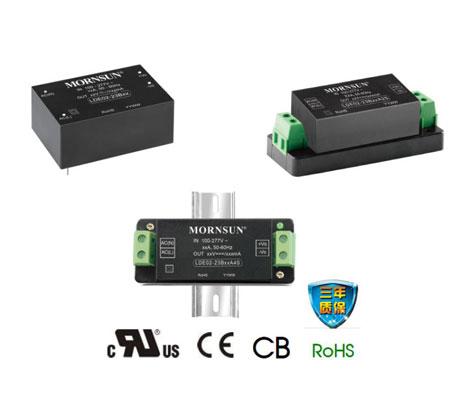 金升阳85-305VAC宽电压输入AC/DC电源模块LDE02-23Bxx系列