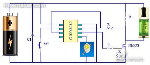 基于CSU8RP3125芯片的电子烟应用设计