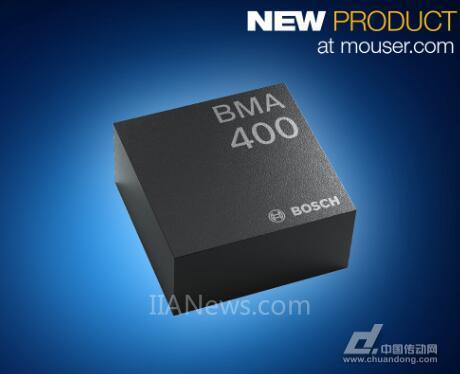贸泽推出BoschBMA400三轴加速度计——凭借超低耗电量脱颖而出