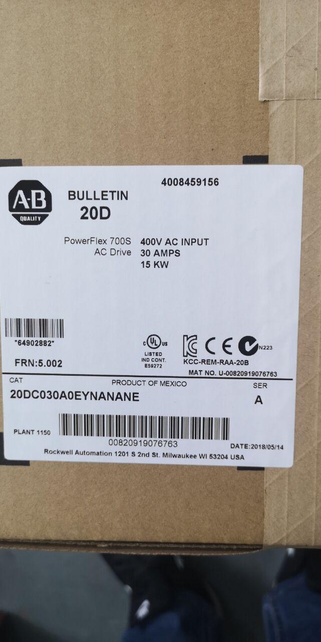 A-B交流变频器20DC030A0EYNANANE