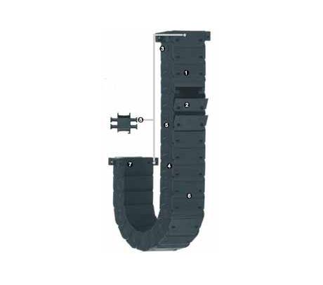igus R48系列 - 管, 可沿外径方向快速打开