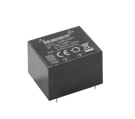 金升阳白色家电类高可靠性AC/DC电源——LD03-20BxxWG系列