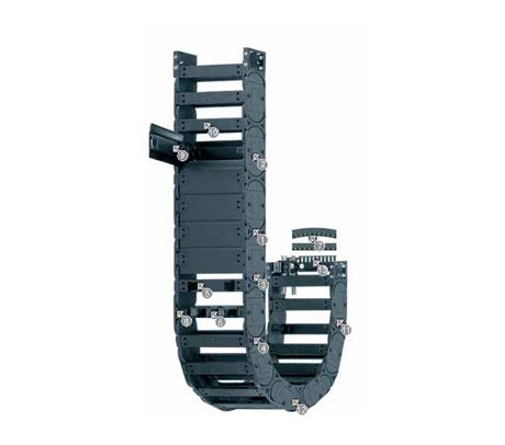 igus E4.32 拖链系列,每个链节带一个横杆,可沿两侧快速打开