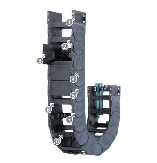 易格斯14550系列拖链,每个链节可在两侧打开
