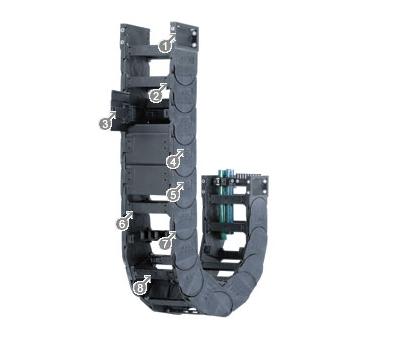 易格斯14650系列——拖链,可在两侧扣开,每两个链节有横杆