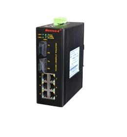MIE-5210  2光6电自愈环百兆工业以太网交换机