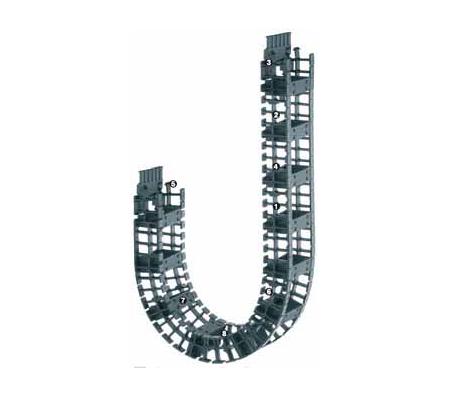 igus T3.29系列拖链,每隔一个链节有横杆